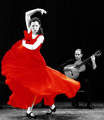 Flamenko gitar ve dans
