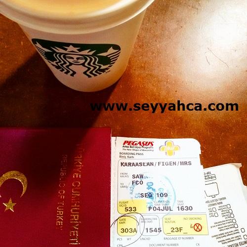 İstanbul Sabiha Gökçen Havalimanı (Saw) Uçuşu bekleyiş...