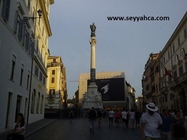 Spagna'daki heykel...
