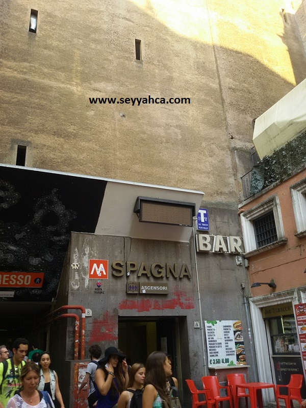 Spagna (İspanyol Merdivenleri) Metro-Roma