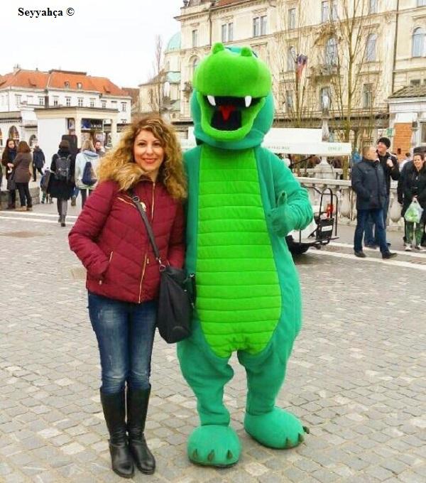 Ljubljana'nın Simgesi Olan Ejder ve Ben :)