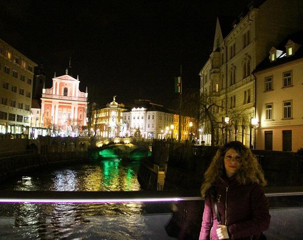Ljubljana Köprüsü'nde Akşam