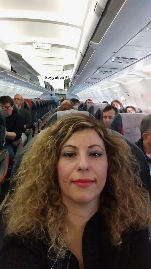 Ljubljana'ya Seyahat- Uçakta...