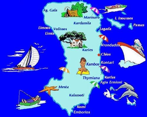 Sakız Adası Harita