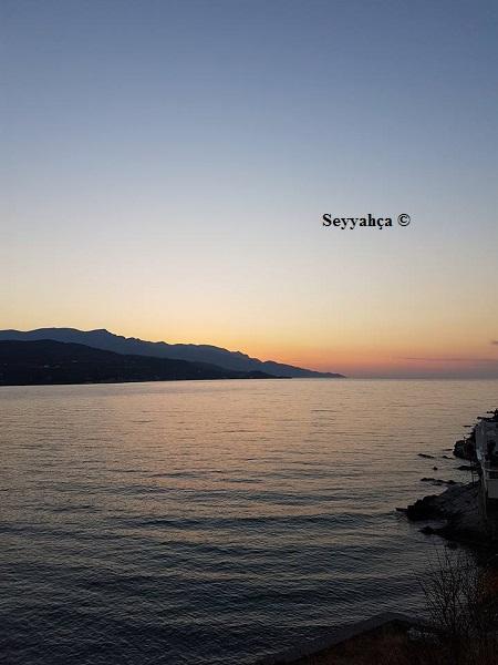 Samos'ta Gün Batımı...