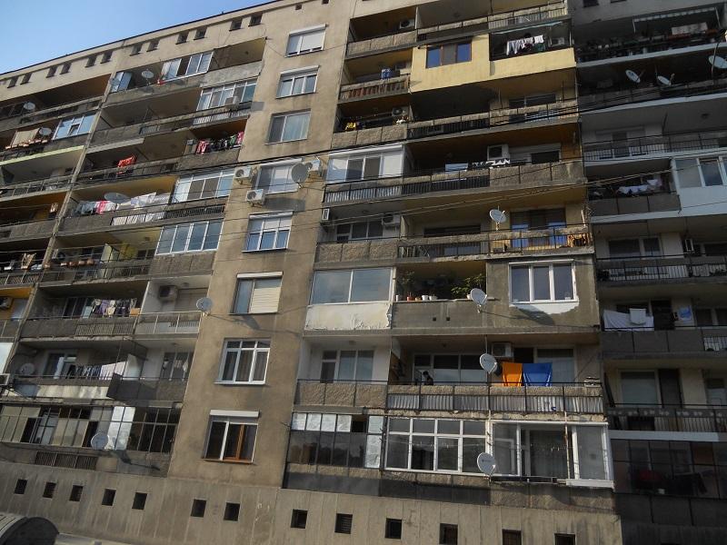 Komünist dönemden kalma bir bina...