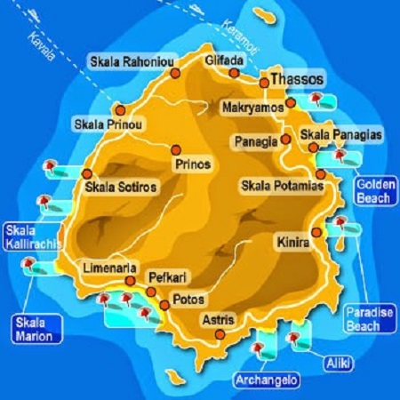 Thassos Haritası