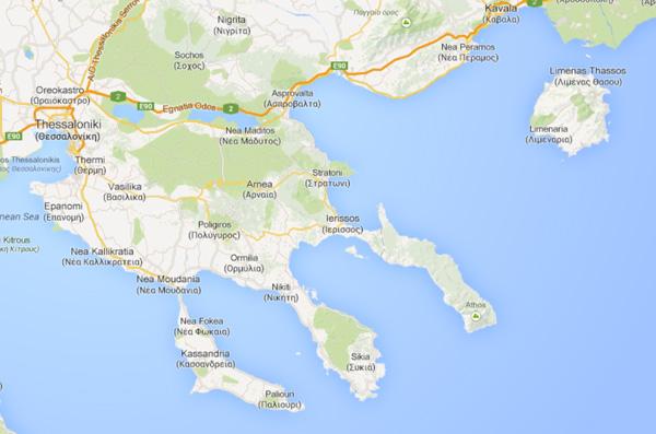 Halkidiki Haritası